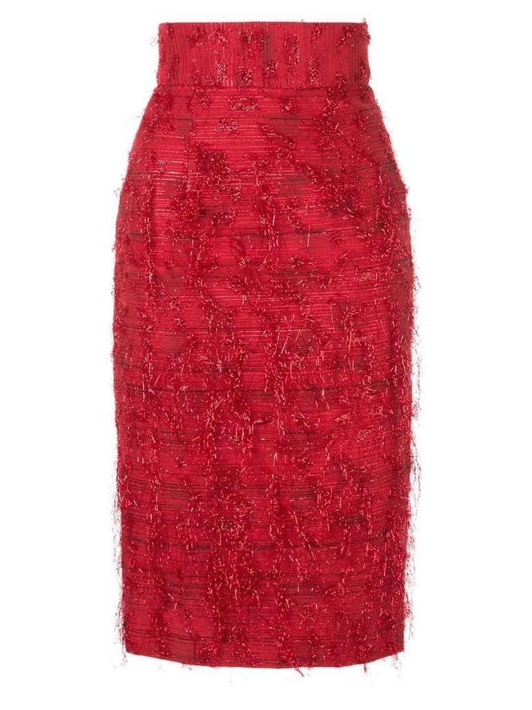 Bambah Violeta pencil skirt - Red