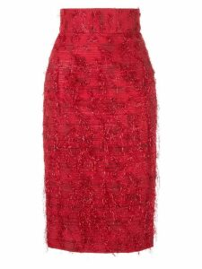 Bambah Violeta pencil skirt - Red