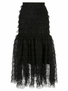 Bambah victorian lace midi skirt - Black