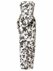 Bambah floral pencil gown - White