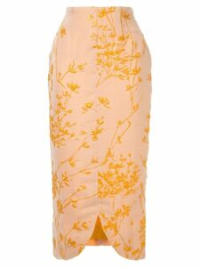 Bambah embroidered pencil skirt - Yellow