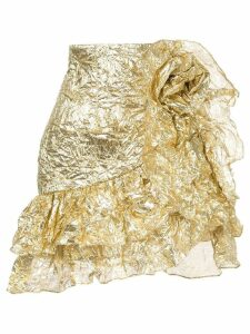 Bambah wrinkle ruffle skirt - Gold