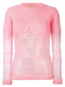 Nº21 distressed detail jumper - Pink