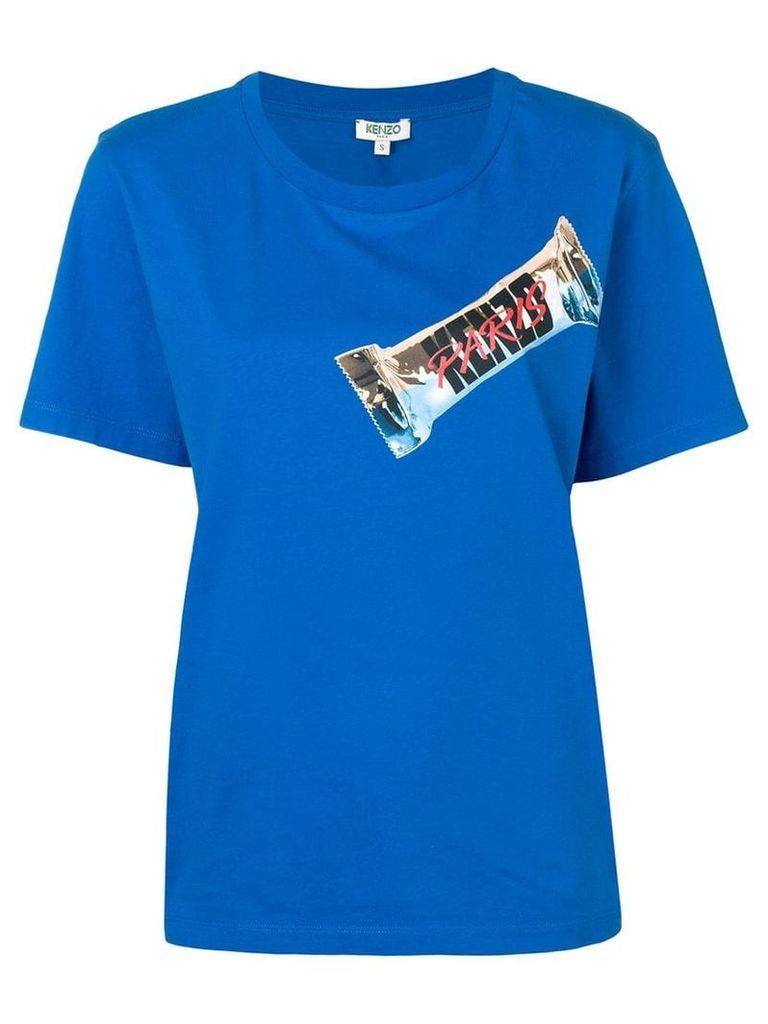 Kenzo logo print T-shirt - Blue