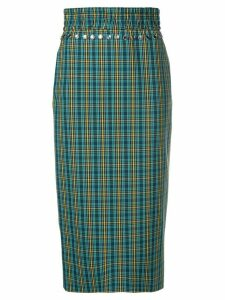 Nº21 fitted checked skirt - Blue