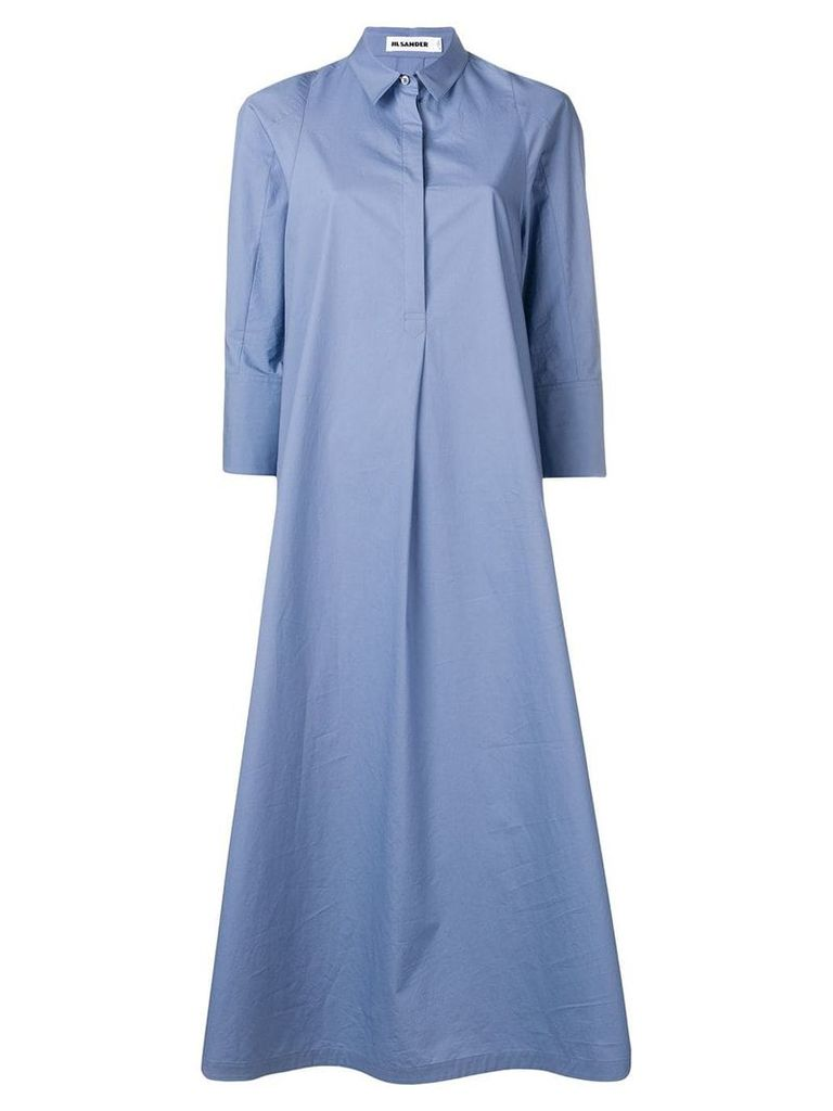 Jil Sander maxi shirt dress - Blue