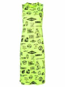 McQ Alexander McQueen fitted midi dress - Green