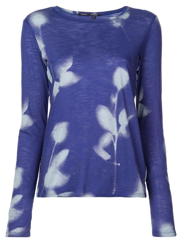 Proenza Schouler Rose Imprint Long-Sleeve T-Shirt - White
