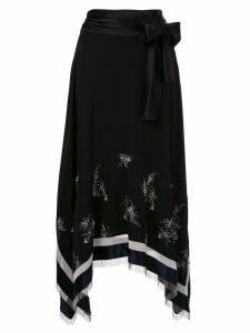 3.1 Phillip Lim Embellished asymmetrical skirt - Blue