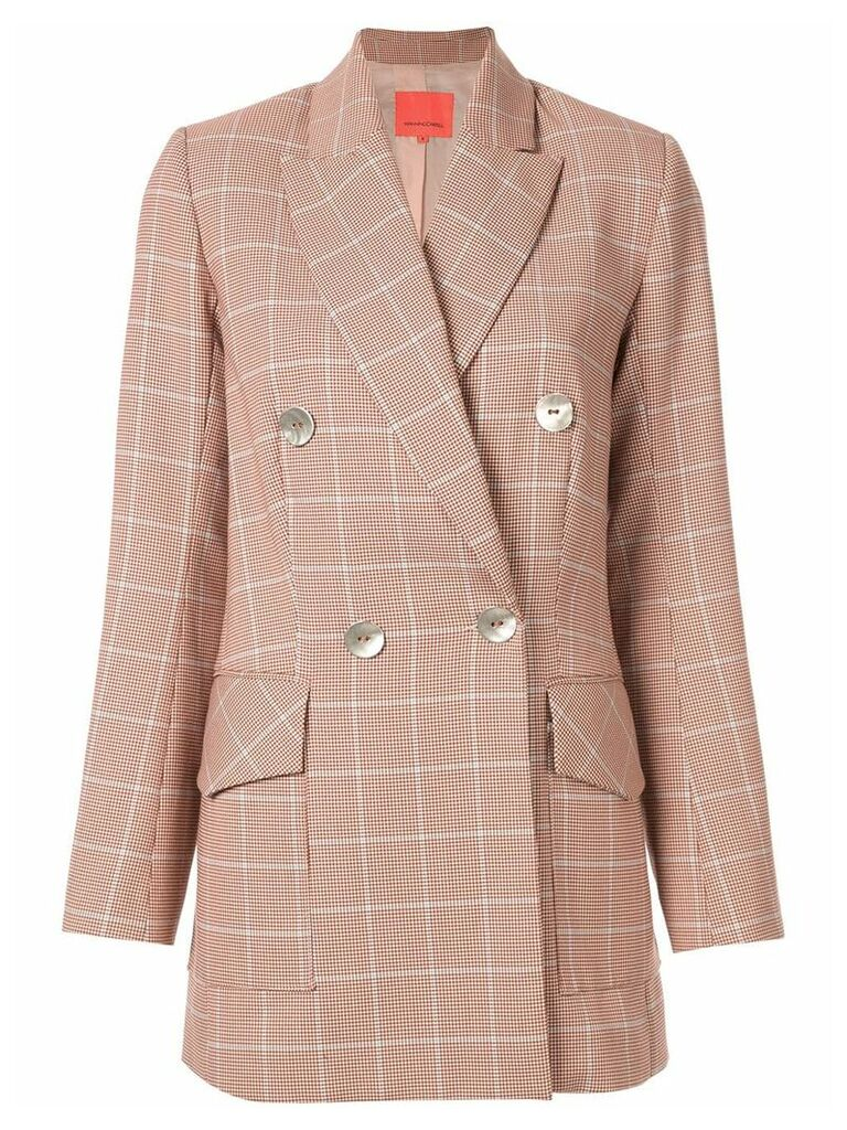 Manning Cartell checked blazer - Brown