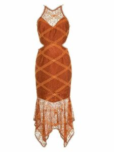 Manning Cartell embroidered asymmetric dress - Brown