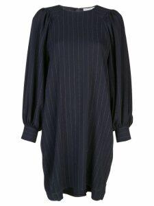 Ganni striped shift dress - Blue