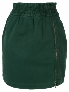 Nº21 zip detail skirt - Green