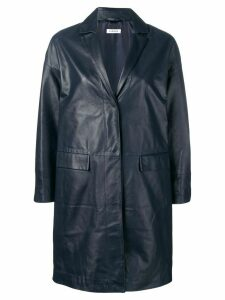 P.A.R.O.S.H. single breasted leather coat - Blue