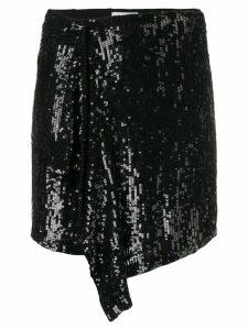 P.A.R.O.S.H. asymmetric mini skirt - Black