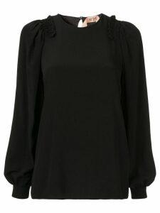 Nº21 ruffle details blouse - Black