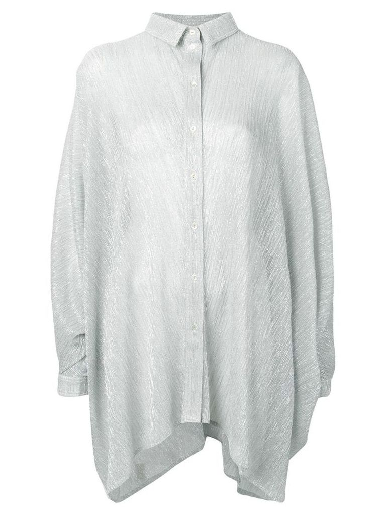 Amen oversize silver blouse - Metallic