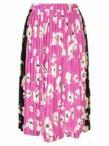Nº21 floral print pleated skirt - Purple