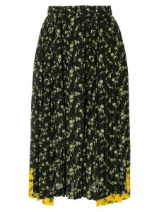 Nº21 floral print pleated skirt - Black