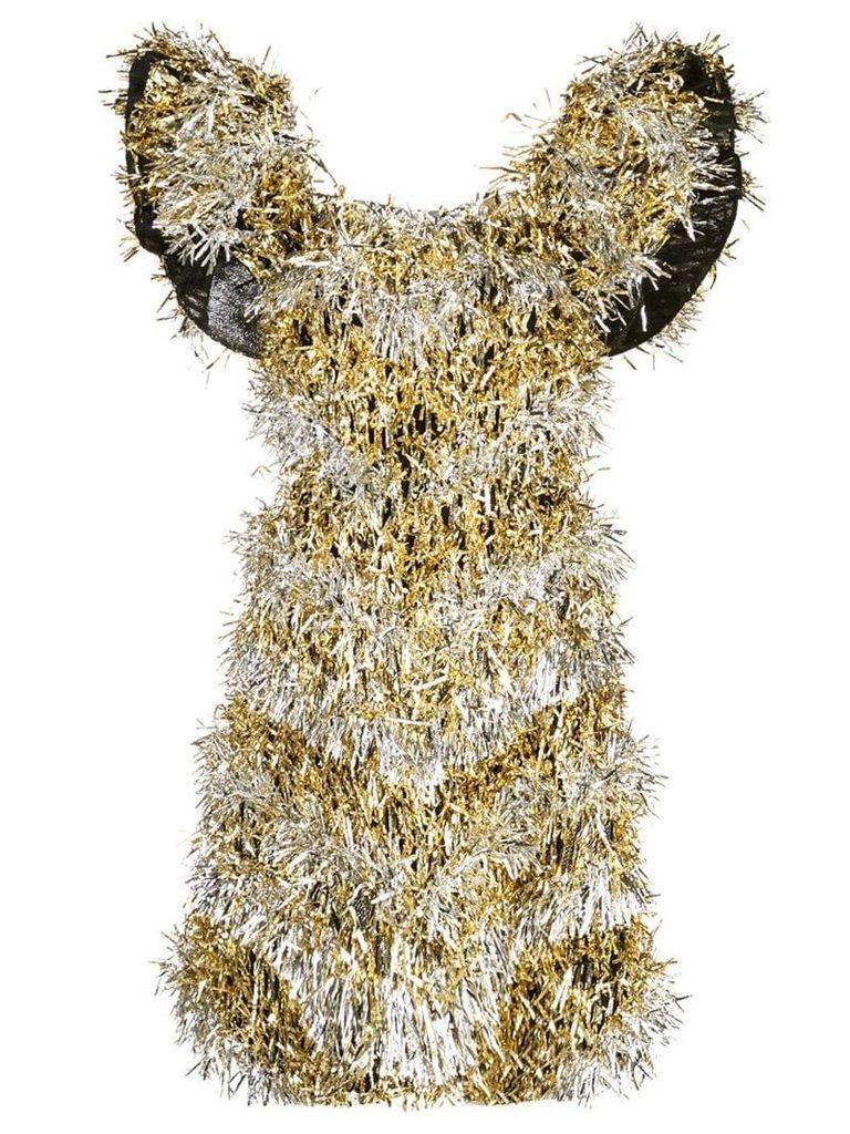 Dolce & Gabbana tinsel embellished dress - Gold