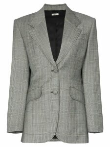 Miu Miu single-breasted Prince of Wales check print wool blazer - Grey