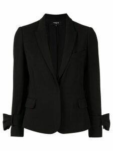 Paule Ka bow-detail fitted blazer - Black
