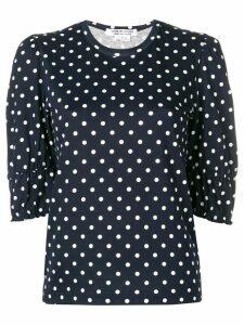 Comme Des Garçons Comme Des Garçons polka dot blouse - Blue