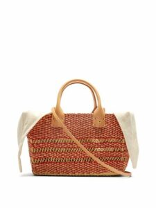 Muuñ - Carrie Woven Straw Basket Bag - Womens - Cream Multi