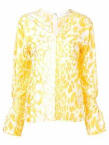 Victoria Beckham leopard print blouse - Yellow