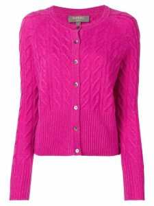 N.Peal cable knit cardigan - Purple