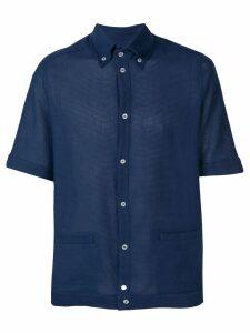 Anglozine Blake Aertex shirt - Blue