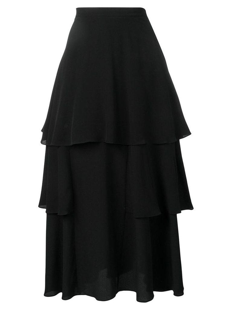 Stella McCartney tiered ruffled skirt - Black