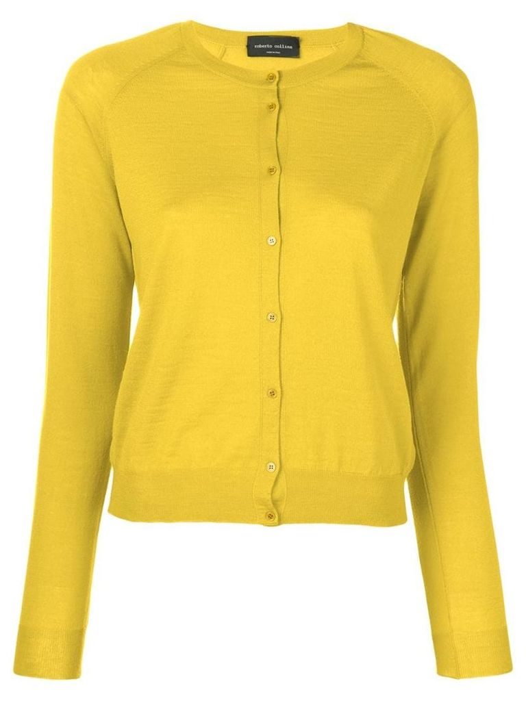 Roberto Collina classic small cardigan - Yellow