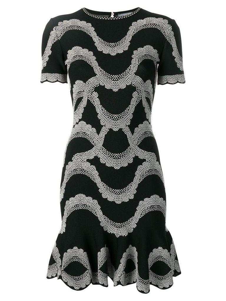 Alexander McQueen embellished A-line dress - Black