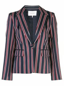 FRAME single-breasted striped blazer - Blue