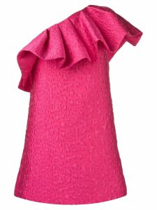 P.A.R.O.S.H. one shoulder ruffle dress - Pink