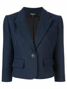 Paule Ka cropped fitted blazer - Blue