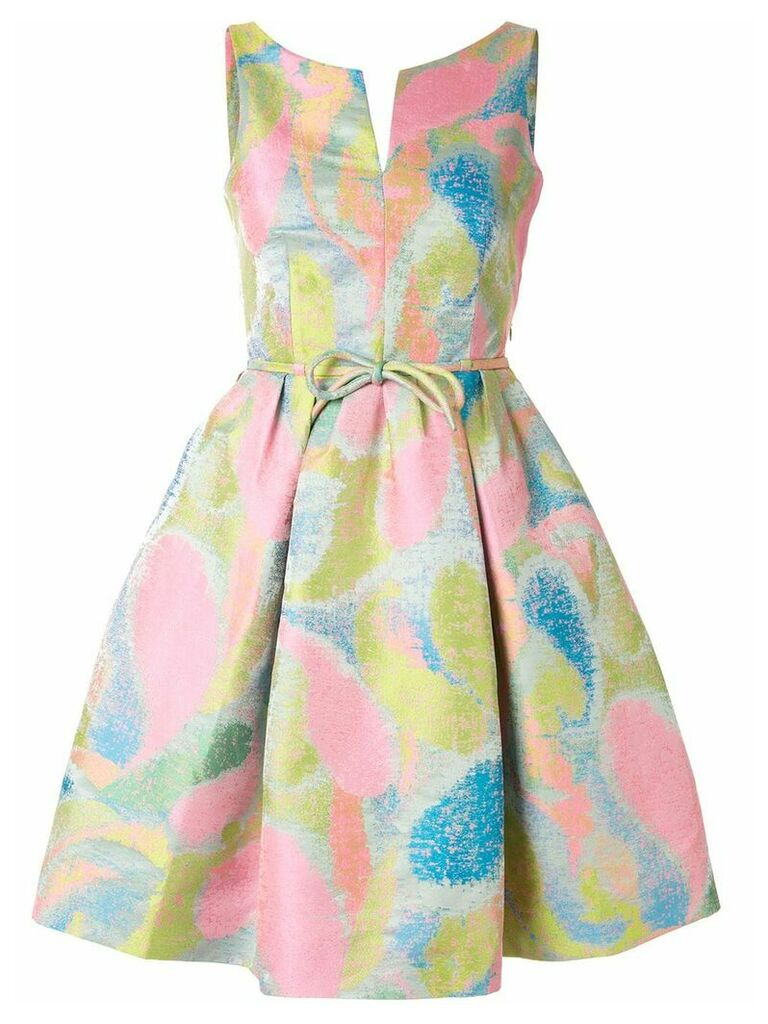 Paule Ka jacquard flared dress - Multicolour