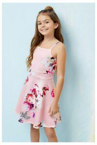 Lipsy Girl Floral Scuba Dress - Pink