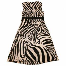 Zebra print Cotton Dress