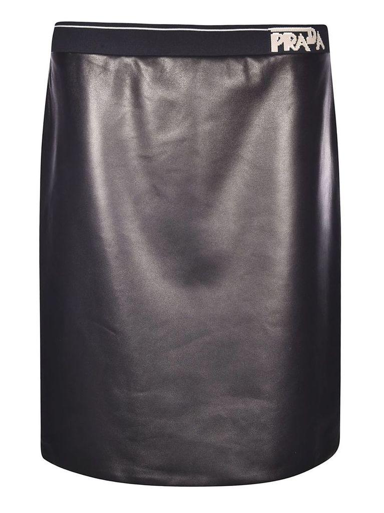 Prada Logo Band Mini Skirt