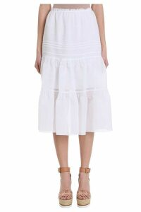 See by Chloé White Cotton Skirt