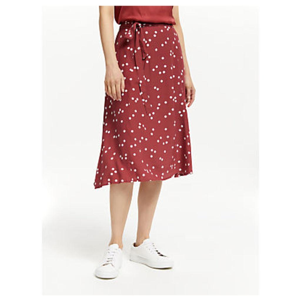 Yerse Spot Midi Skirt, Topos Granate
