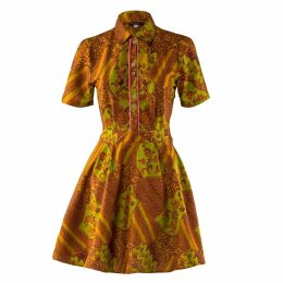 relax baby be cool - Short Sleeve Button Up Dress Hokokai