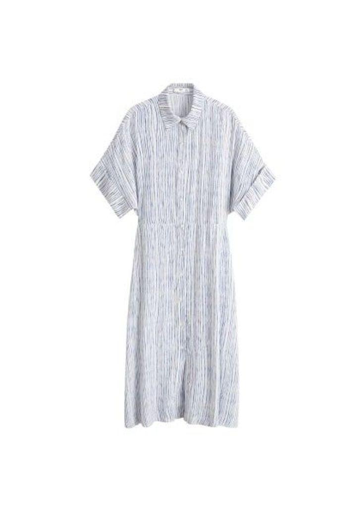 Stripped print dress