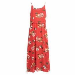 Moony Mood  JULIENNE  women's Long Dress in Red