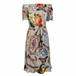 Boutique Moschino Printed Midi Dress