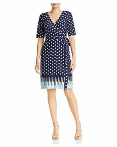 Adrianna Papell Faux-Wrap Printed Jersey Dress - 100% Exclusive