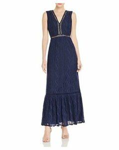 Aqua Sleeveless Lace Maxi Dress - 100% Exclusive