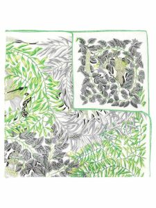 Hermès Pre-Owned plants print scarf - Green